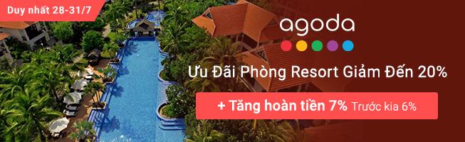 Agoda khuyến mại hoàn tiền 10%